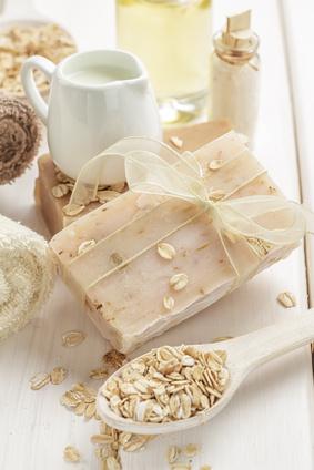 Naturseife mit Hafer Seife Hafer, Milch und Honig