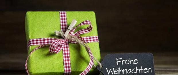 Ein Weihnachtsgeschenk: Gutschein Weihnachten