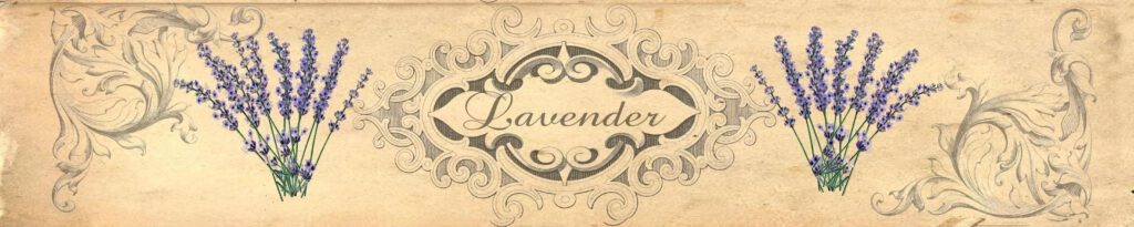Banderole für Lavendelseife